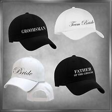 Bride, Groom and Complete Wedding Party Baseball Cap/Hat (U-Pick)