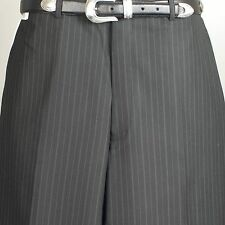 "Savile Row SLACK  - Mens Dress Black Striped Slack  38"" Waist  - PP10"