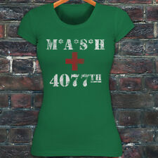 Viintage TV Show Mash 4077th Classic Womens Green T-Shirt