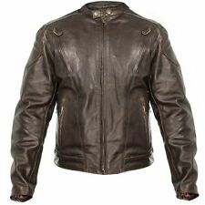 Xelement Men Brown Premium Speedster Motorcycle Jacket w/Zip Out Lining B7203