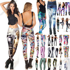 Wholesales Sexy Colorful Comic Cartoons 3D Prints Leggings Tight Pants GYM Funky