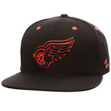Detroit Red Wings Zephyr Infrared Flat Bill Snapback Hat NHL Cap Black Red New