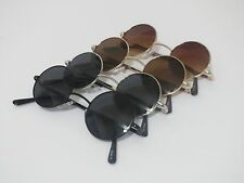 Vintage Retro Classic John Lennon Style Circle Round Sunglasses For Small Faces.