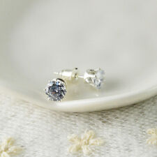 New Fashion women 925 Sterling Silver  Basket Set Round CZ Stud Earrings