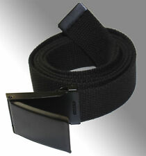 NEW FLIP TOP ADJUSTABLE WEB CANVAS BLACK BELT BUCKLE for MILITARY GOLF MEN WOMEN
