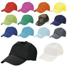 ADULT SIZE BASEBALL CAP 100% COTTON  HAT - ADJUSTABLE - 7 COLOURS - BRAND NEW