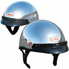 NEW Bell DOT Bandito Chrome Half Face Helmet  Sizes Available Adult Small, Large