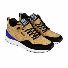 Gourmet Mens The 35 Lite Cork LX Tan Black Suede Synthetic Sneakers Shoes