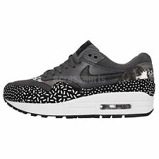 Womens Wmns Nike Air Max 1 Print Black White NSW Casual Sneakers Running Shoes