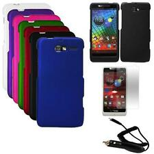 Phone Case For Verizon Moto Luge Hard Cover Car Charger Film for Motorola Razr M