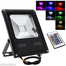 NEW 20W LED Flood Light Outdoor Pathway Yard RGB/Warm/Cool White IP65 waterproof