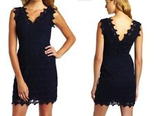368.00 LILLY PULITZER 8,10 REEVE DRESS TRUE NAVY PAPILLON LACE NWT