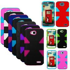 Phone Case For Walmart Family Mobile LG Optimus L90 Dual-Layered Rugged Cover