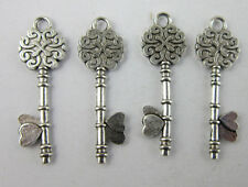 wholesale:20/80pcs Retro style lovely key alloy charms Pendants 34x11mm
