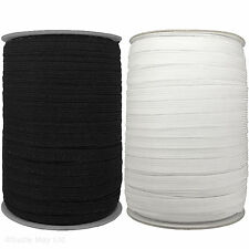 10mm ELASTIC - Premium Grade Black Or White - 12 CORD Flat Corded