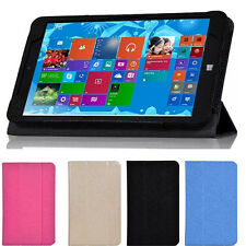 """Tri-Fold PU Leather Stand Case Cover For 8"""" Chuwi Vi8 Windows Win8 Tablet MFJS"""