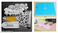 Sugarcraft Decorating Fondant Icing Cake Cutters Tools Silicone Mat UK Seller