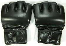 Genuine Leather MMA Muay Thai Training Gym Punching Bag Sparring Boxing Gloves