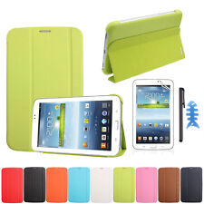 Leather Case Cover For Samsung Galaxy Tab 3 7.0 T210 T211+Film +Stylus GFY