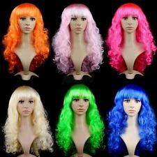 Women Lady Long Hair Wig Curly Wavy Synthetic Anime Cosplay Party Full Wigs J75