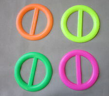 Tee shirt clip pull holder circle ring ONE neon green yellow orange hot pink