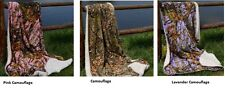 """Super Plush Soft Warm Camouflage Blanket/Throw Camping Hunting Hiking 40"""" x 50"""""""