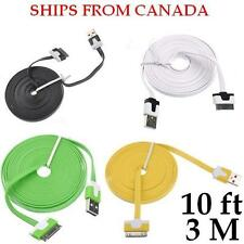 3M Flat Noodle USB Sync Data & Charging Cable for iPhone 4/4S 3/3GS iPod Touch 4