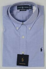 Polo Ralph Lauren Blue Button Down Classic Fit Dress Shirt Navy Blue Pony NWT