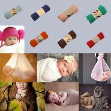 Newborn Babys Stretch Shawl Wrap Cocoon Photo Photography Prop Swaddle Blanket