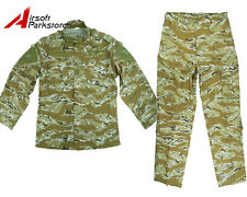 Military Special Force Tactical BDU Uniform Shirt Pants Desert Tiger Stripe Camo
