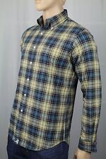 Polo Ralph Lauren Blue Tan Plaid Button Down Custom Fit Oxford Dress Shirt NWT