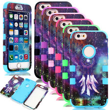 Dreamcatcher Hybrid Heavy Duty Rubber Matte Combo Cases Cover For iPhone 6 6S