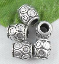 Wholesale 58/127Pcs Tibetan Silver  Spacer Beads 6x6mm(Lead-free)