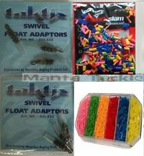 NEW 6 x Silicone SWIVEL FLOAT ADAPTORS or CHOPPED RUBBERS or Case Pole Coarse