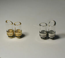 4 Styles - Drip tip Pyrex Glass Stainless Steel, Brass (solid) 510 wide bore