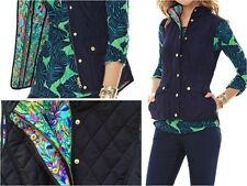 LILLY PULITZER GETAWAY QUILTED VEST TRUE NAVY XS NWT