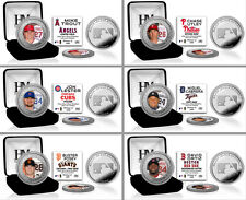 Choose MLB Baseball Player Silver & Color Image Medallion Coin by Highland Mint