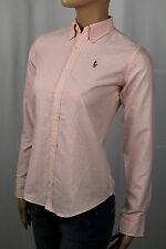 Ralph Lauren Orange Classic Fit Striped Blouse Shirt Multi Colored Pony NWT