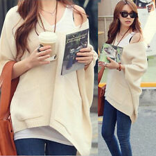 Oversized Acrylic Half Batwing Sleeve Plus Size Women Knit Tops Knitwear Sweater