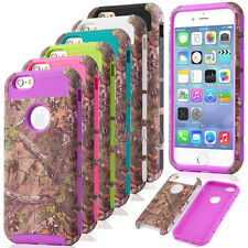 Heavy Duty Realtree Pattern Printed Matte Combo Case Cover For iPhone 6 6S Plus