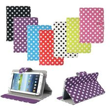7 inch Universal Polka Dot Leather Stand Case Cover For Android Tablet PC Gift
