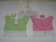 Gingham or Dot S Dog Harness Lace Vest Hairbow Charm Yorkie Maltese ShihTzu