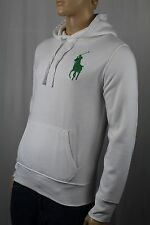 Polo Ralph Lauren White Big Green Pony Hoodie Sweatshirt NWT $145