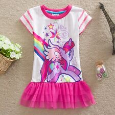 NWT My Little Pony Girls Dresses Holiday Dress Top T-Shirt Size 3 4 5 6 7 8