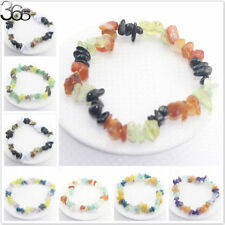 Nice Elegant Jewelry Natural Stone Mixed Gemstone Chip Beads Stretchy Bracelet