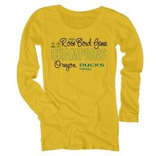 Oregon Ducks Women's Yellow 2015 Rose Bowl Champions Long Sleeve T-Shirt