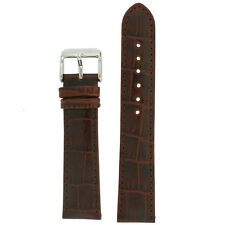 Extra Long Watch Band Brown Genuine Leather Strap Alligator Grain