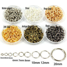 Wholesale 25-300Pcs Charms Open Connectors Jump Split Rings Findings DIY 4-20mm