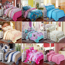 Soft Twin Full/Queen King Duvet Cover Pillow Case Bedspread Sheet Bedding Set