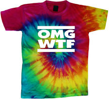 OMG WTF funny tie dye t-shirt tie dye tee shirt texting design text message